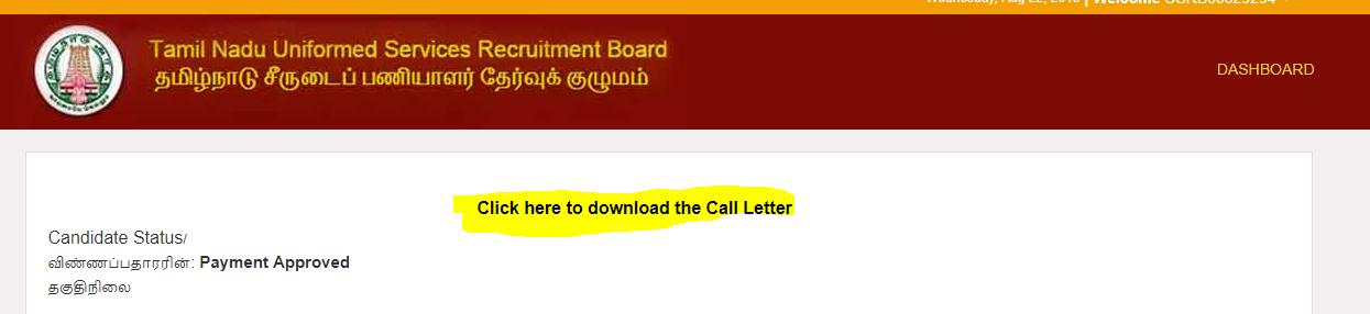 Call Letter Downlaod